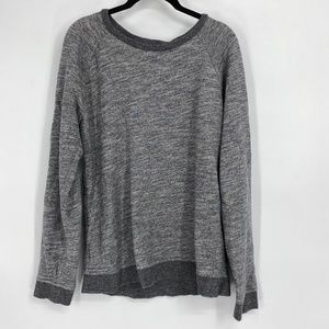 Everlane Spacedye Gray Crewneck Sweatshirt
